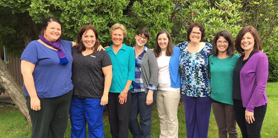 Group photo of Glacier Pediatrics staff