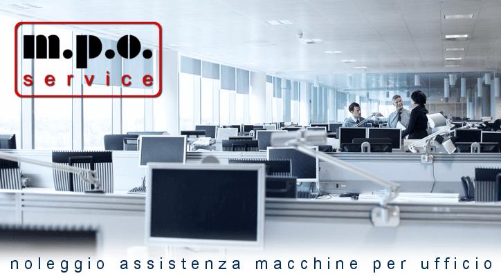 Noleggio assistenza macchine per ufficio