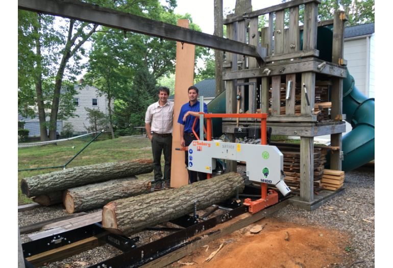 Brothers Satisfy Woodworking Passion With Portable Sawmill