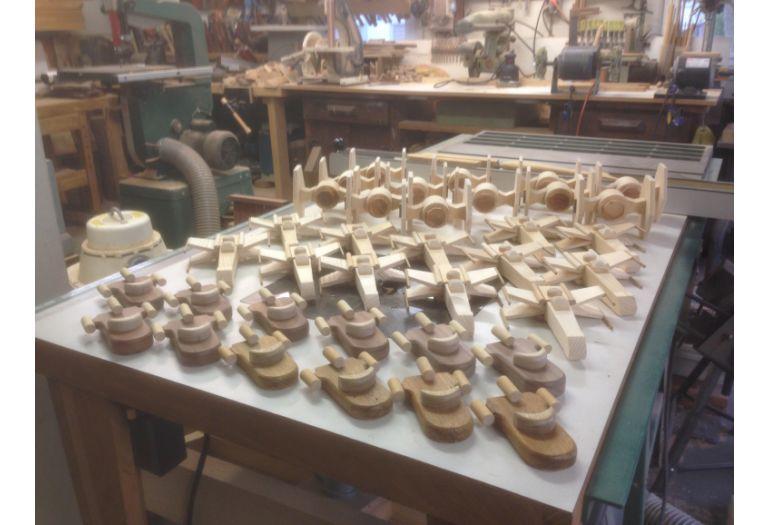 Sapce craft wood toys