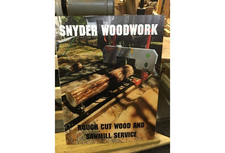 Snyder woodoworking sign
