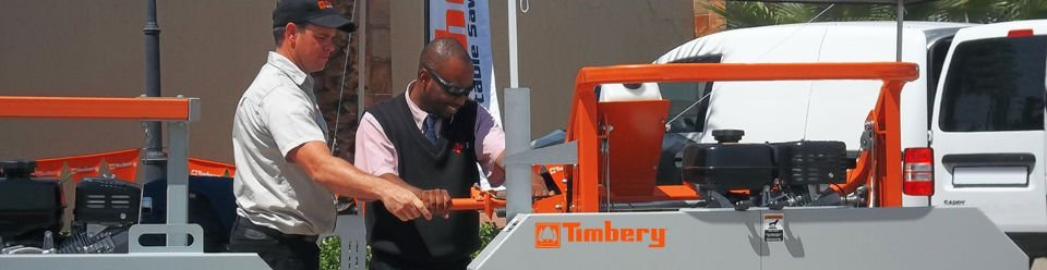 Sawing on a Timbery in Africa
