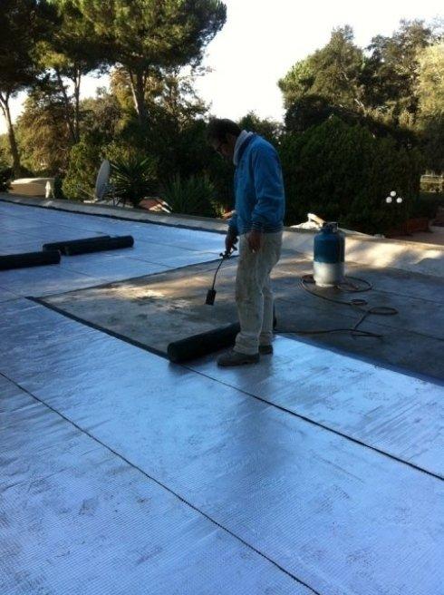 lavorazione guaina, tetto