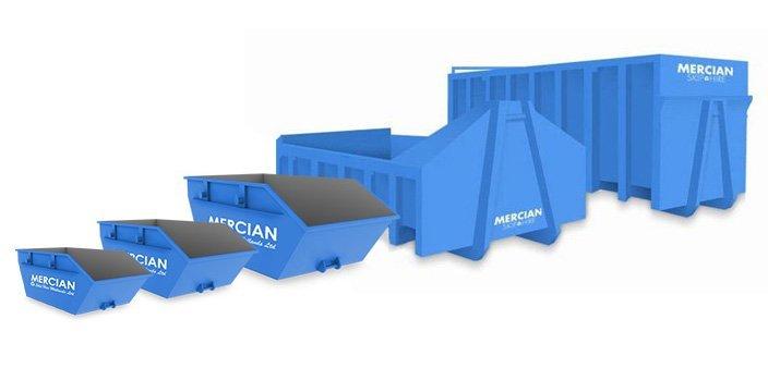 Mercian Skip Hire illustrated skips