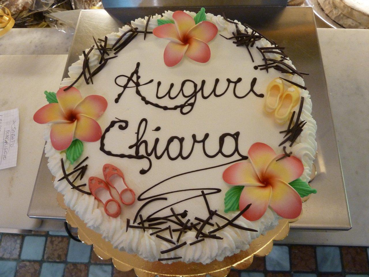 torta di compleanno Chiara