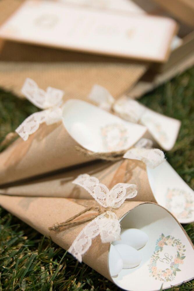 pacchetti regalo a forma di cono