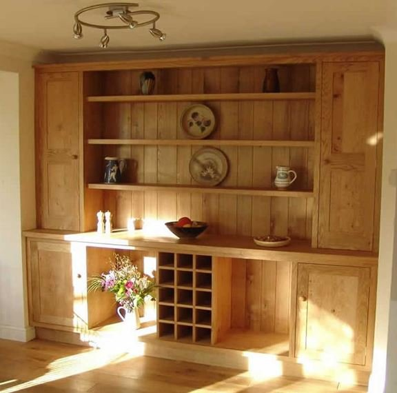 Wooden cabinet construction