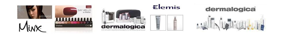 dermalogica Elemis Minx logos