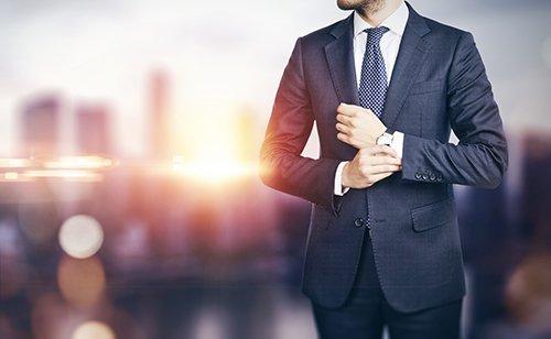 Man in business wear