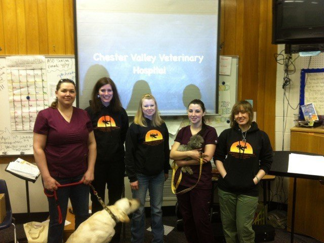 Team of volunteer helping at  Central Middle School of Science in  Anchorage, AK