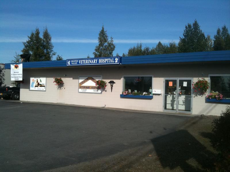 Exterior view of the vet clinic in Anchorage, AK