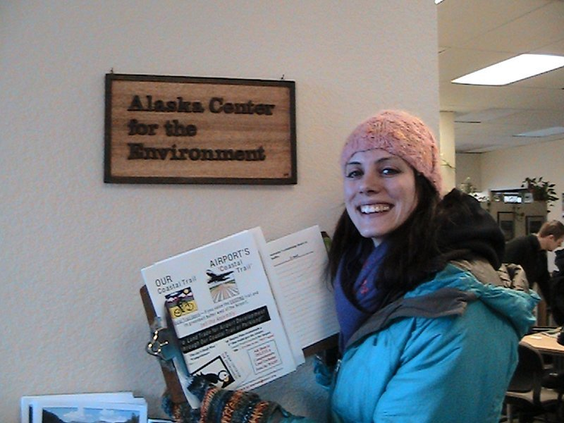 Volunteers participating at Alaska Center for the Environment  in Anchorage, AK