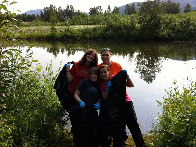Team of volunteer participated in trash collection in Anchorage, AK
