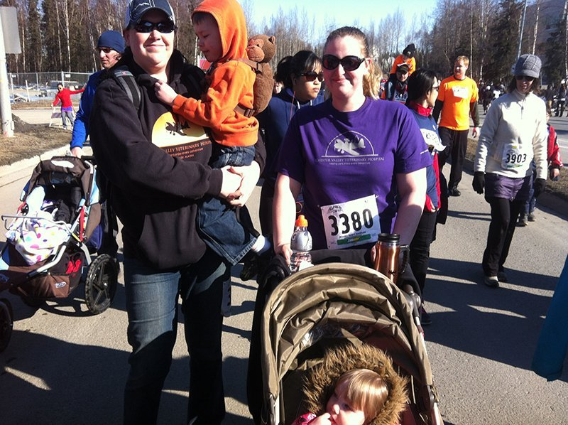 Volunteer at the heart run race in Anchorage, AK