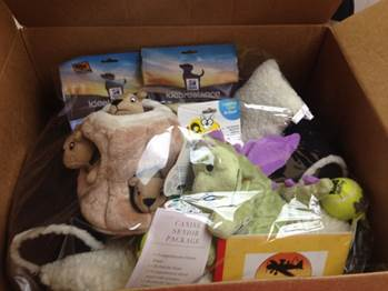 View of the gift basket given to Alaska Center for the Environment and The Anchorage Symphony in Anchorage, AK
