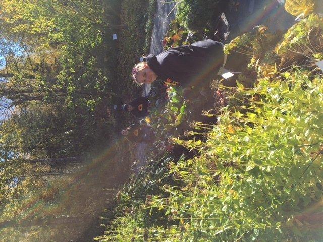 Women volunteer at the Alaska Botanical Gardens in Anchorage, AK