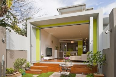 bio building design modern house with french doors