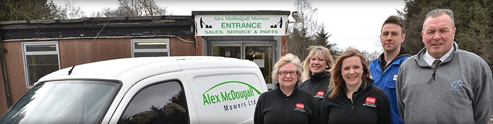 The team at Alex McDougall (Mowers) Ltd