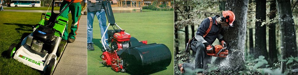 Commercial lawnmowers and tree cutting equipment