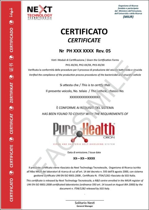 Pure Health Certificate