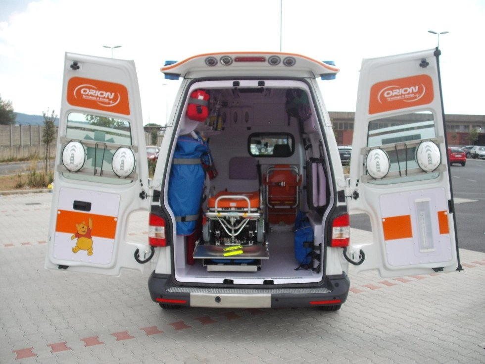 Ambulanza di soccorso modello Transporter