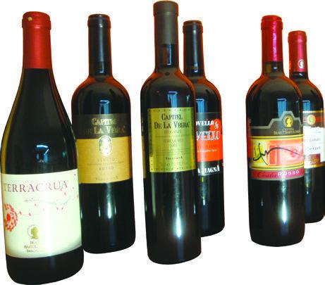 Bottiglie con etichette stampate