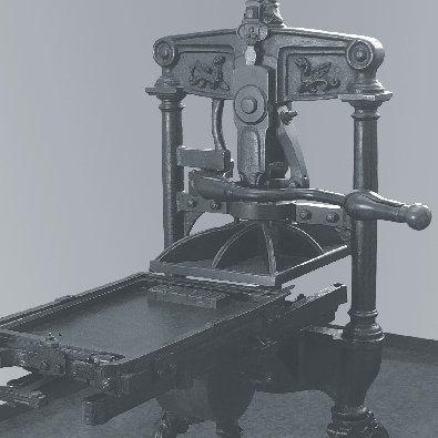 Macchinario per stampa usato nei primi del Novecento