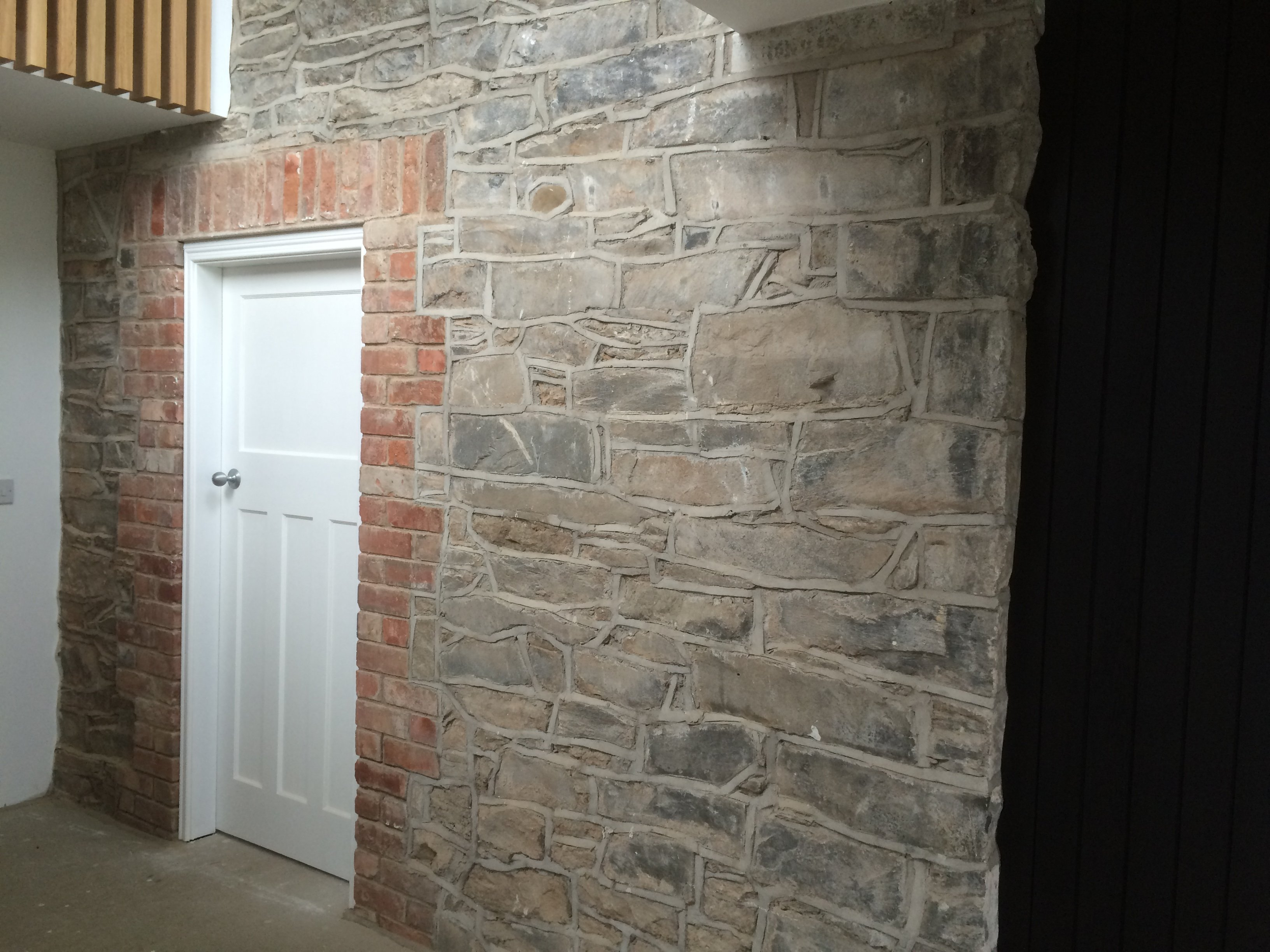 built stone wall