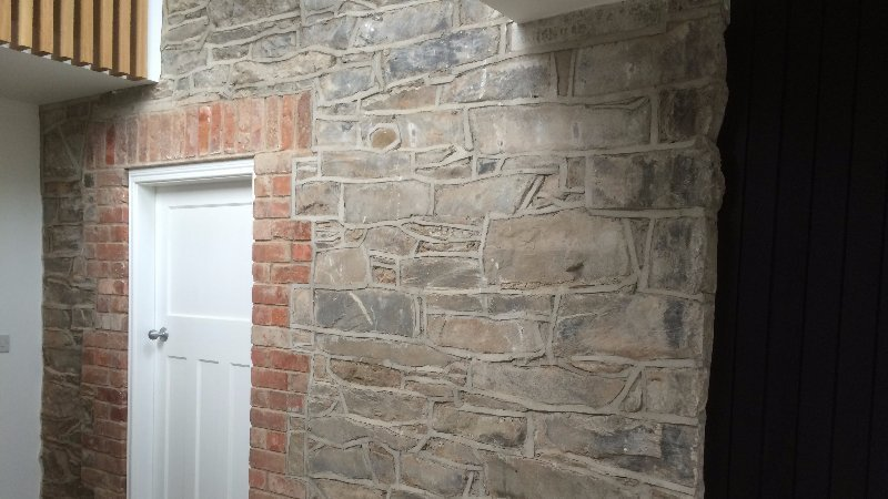 wall in new extension