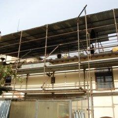 Impalcatura con copertura invernale per tetto, Firenze
