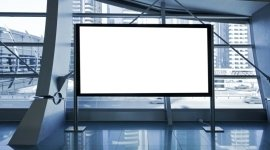 tecnologie moderne, striscioni pubblicitari, cartelloni bianchi