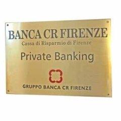 banca cr firenze, targhette, grafica
