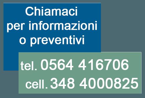 Contattaci per Informazioni e Preventivi