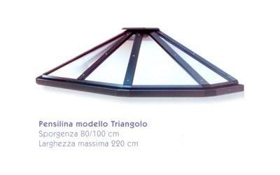 pensilina triangolare