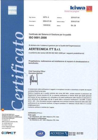 CERT QUALITA 9001 2008