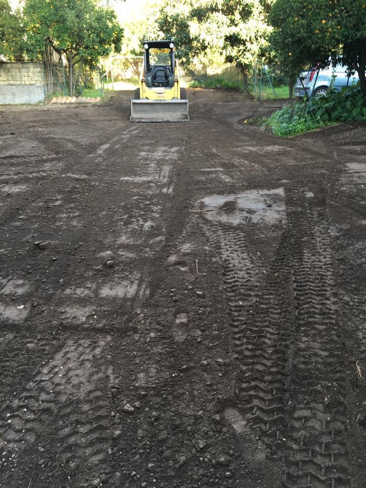 preparazione suolo per asfaltatura
