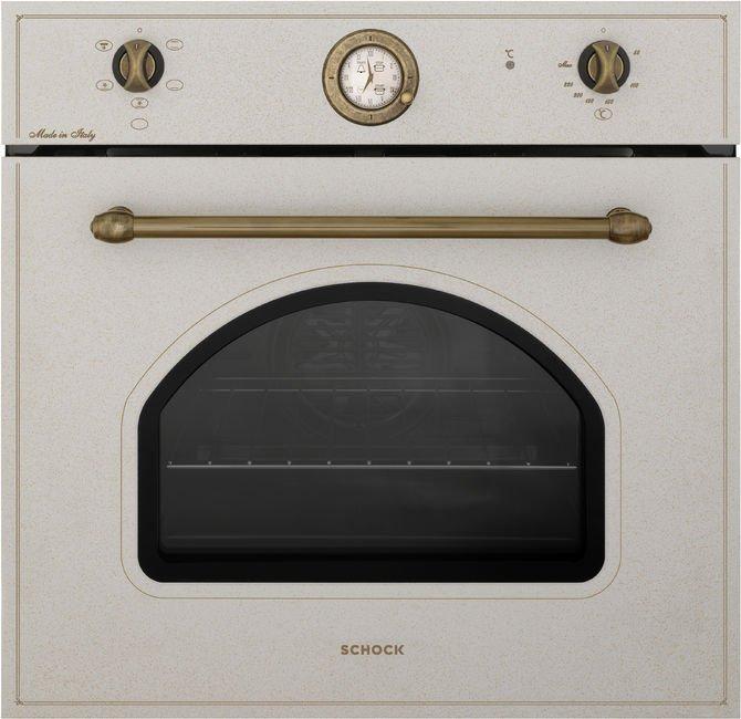 forno bianco con inserti in bronzo