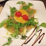 Aceto balsamico, pesce fresco, verdure alla griglia