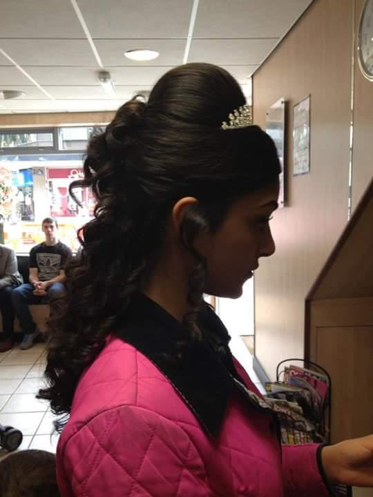 tiara on head