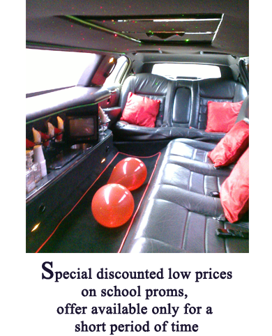 Special discounted low priceson school proms,  offer available only for a short period of time