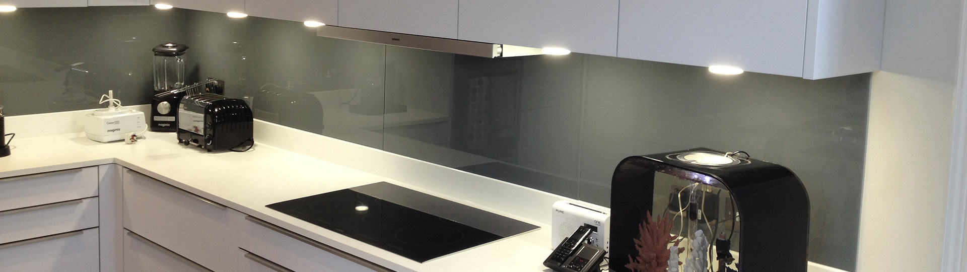 Glass Splashbacks in a kitchen