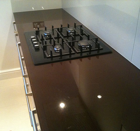 A bespoke kitchen surface