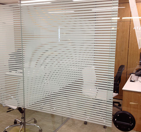 A shatter proof glass window