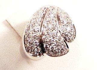 Anello in oro bianco 750 con diamanti - modello three
