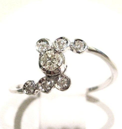 Cattelan - anello solitario con diamanti - modello les petits 9