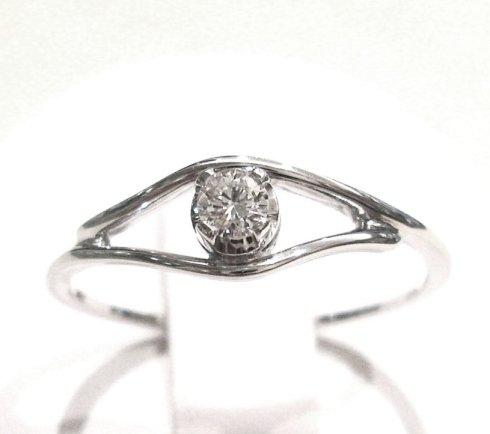 Cattelan - anello solitario con diamante in oro bianco 750 - collezione les petits 8