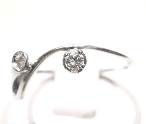 Cattelan _ anello con diamanti in oro bianco 750 - collezione les petits 4