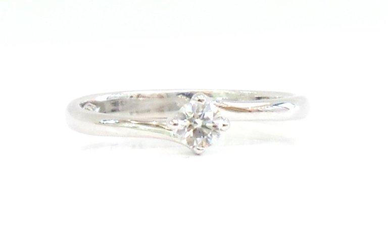 Solitario Oro Bianco750 con Diamante mod. Valentine