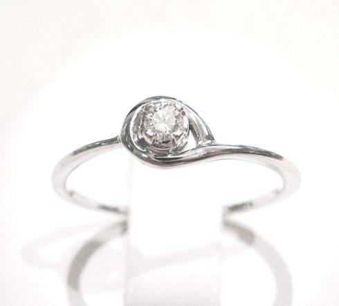 Cattelan - anello solitario con diamante in oro bianco 750 - collezione les petits10