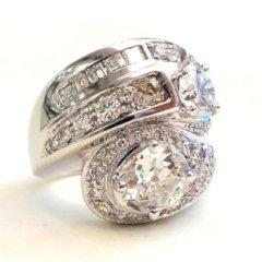 nello in oro bianco 750 con diamanti - modello contrariè